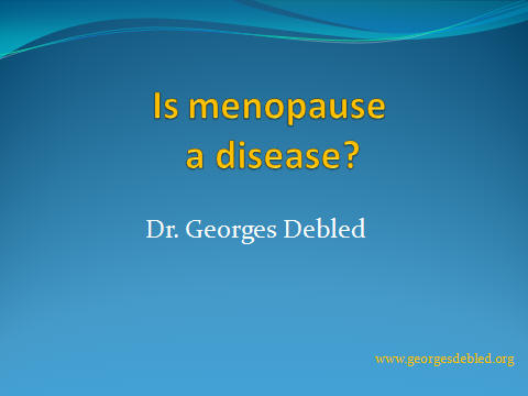 is menopause a disease